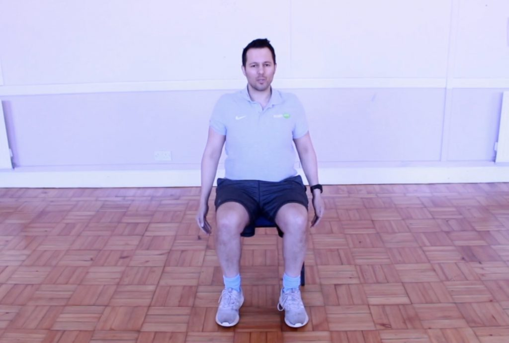 Seated posture check