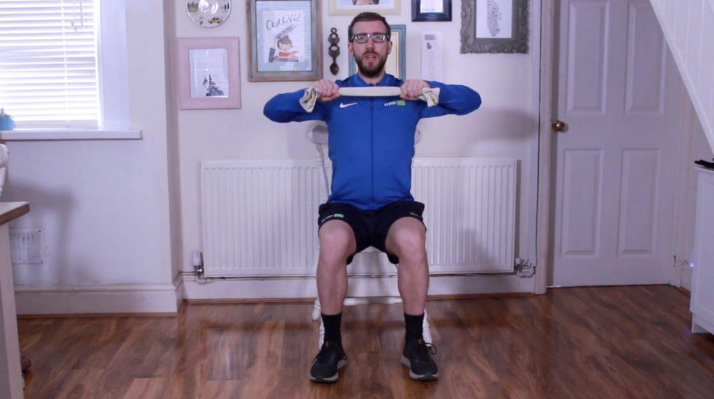 Seated Tea Towel workout